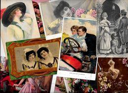 Lot 1121 De 10 CPA Femme Girl Women Dont Illustrateurs Déstockage Pour Revendeurs Ou Collectionneurs - Postcards