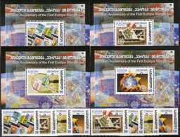 50 Jahre EUROPA Georgien 507/4+Blocks 35-38 ** 24€ Stamps On Stamp Blocs 1956-2006 S/s Philatelic Sheets Bf GEORGIA - Stamps