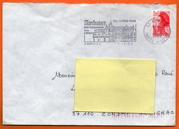 37 AMBOISE  SON CHATEAU ROYAL 1986 Lettre Entière N° FF 637 - Postmark Collection (Covers)