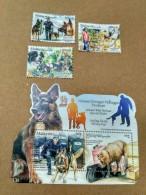 Malaysia Chinese Zodiac  Year Of  Dog 2018 Working Dogs Police Drug Combo Ms &  Stamp MNH - Malaysia (1964-...)