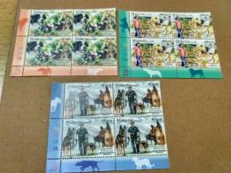 Malaysia Chinese Zodiac  Year Of  Dog 2018 Working Dogs Police Drug Block 4 Corner 1A 1A Stamp MNH - Malaysia (1964-...)