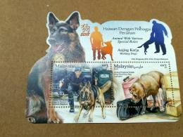 Malaysia Chinese Zodiac  Year Of  Dog 2018 Working Dogs Police Drug Ms Stamp MNH - Malaysia (1964-...)