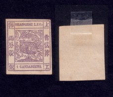 China Shanghai Large Dragon Stamp,1 Candareens Linguellato - Chine