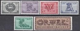 """BELGIQUE - COB - 625/30** - Cote 4 € - Cinquième Orval  Dite """"Lettrines"""" - Belgien"""