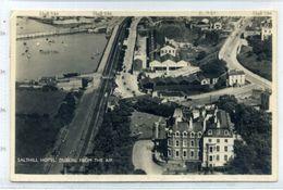 Ireland County Dublin Postcard Salthill Hotel  Dublin From The Air By F Snow 1940s-50s - Dublin