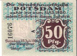 Deutschland Notgeld 50 Pfennig POTSDAM /42M/ - [11] Local Banknote Issues
