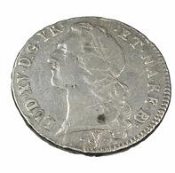 Ecu - Au Bandeau - Louis XV -  France - 1755  Pau   - Légende . ET NA RE BO - 29,07 Gr.  - Argent - TB+ - - 987-1789 Monnaies Royales