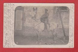 Carte Photo  - Cavalier Allemand -- IX Armée Korps  -  12/1/1916 - War 1914-18