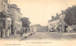 77 CHAILLY EN BIERE LA GRANDE RUE BELLE ANIMATION PRECURSEUR - Autres Communes