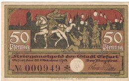 Deutschland Notgeld 50 Pfennig Tieste1755.105.05 ERFURT /110M/ - [11] Local Banknote Issues