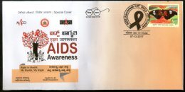 India 2017 Aids Awareness Right To Health Medical Diesease Special Cover # 18273 - Disease