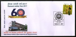 India 2017 Railways Institute Of Signal & Telecommunications Locomotive Train Special Cover # 18253 - Trains