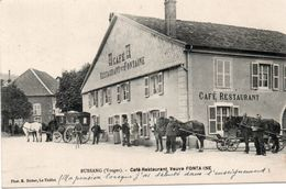 88-BUSSANG-CAFÉ-RESTAURANT-FONTAINE-ATTELAGES- - Bussang