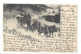 19162 - Diligence Suisse Cachet Gimel 1901 JJ 3007 - Andere