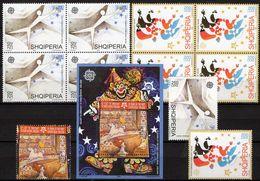 Reiter CEPT 2006 Albanien 3045/7,VB+Block 157 ** 72€ Zirkus Tanz 50 Jahre EUROPA Ms Bloc Art Sheet S/s Bf SHQIPERIA - Stamps