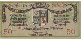 Deutschland Notgeld 50 Pfennig Tieste7430.10.01 TREUCHTLINGEN /110M/ - [11] Local Banknote Issues