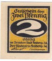 Deutschland Notgeld 2 Pfennig Tieste1950.20.31 FREIBERG /44M/ - [11] Local Banknote Issues