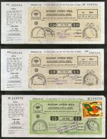 Bangladesh 3 Different Postal Order With Counterfile & Stamps Used # 6030 - Bangladesh