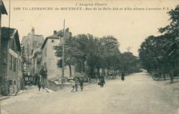 12 VILLEFRANCHE DE ROUERGUE / Rue De La Belle Isle Et Allée Alsace Lorraine / - Villefranche De Rouergue