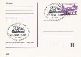 I0275 - Tschechoslowakei (1991) Zelezna Ruda: Wiedereröffnung Der Eisenbahnlinie Zelezna Ruda Stadt-Bayerisch Eisenstein - Post