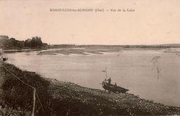 Cpa 18 MARSEILLE-les-AUBIGNY  Vue De La Loire , Animée Barque Et Personnes , Peu Courante - France