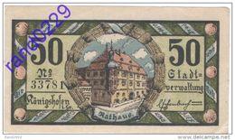 Deutschland Notgeld 50 Pfennig Tieste3610.05.01 KONIGSHOFEN /44M/ - Lokale Ausgaben