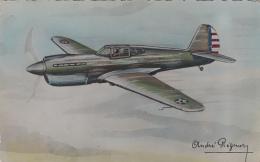 Aviation - Guerre - Dessin André Régnier - Avion De Chasse Curtiss Tomawack - Editions Erpé - 1946-....: Moderne