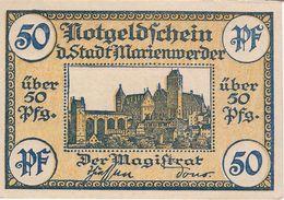Deutschland Notgeld 50 Pfennig MARIENWERDER /45M/ - [11] Local Banknote Issues