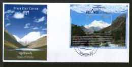 Bhutan 2017 Himalayan Mt. Everest Peak Geology Mountain Nature M/s On FDC # F67 - Bhutan