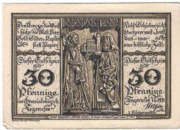Deutschland Notgeld 30 Pfennig Mehl1313.1 TEGERNSEE /45M/ - [11] Local Banknote Issues