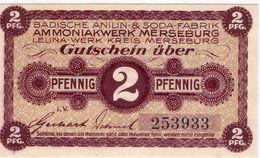 Deutschland Notgeld 2 Pfennig Tieste4505.05.02 MERSEBURG /45M/ - Lokale Ausgaben