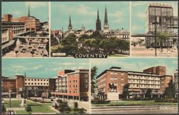 Multiview, Coventry, Warwickshire, C.1950s - Busst Postcard - Coventry