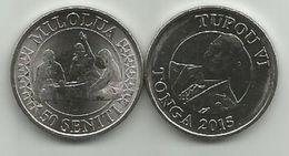 Tonga 50 Seniti 2015. UNC - Tonga