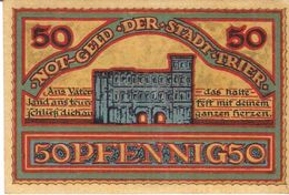 Deutschland Notgeld 50 Pfennig Tieste7455.10.35 TRIER /46M/ - [11] Local Banknote Issues