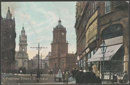 Pinstone Street, Sheffield, Yorkshire, 1904 - National Series Postcard - Sheffield