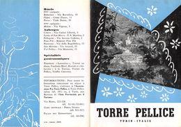 """07309 """" PIEGHEVOLE PUBBLICITARIO - DEPLIANT TURISTICO - TORRE PELLICE - TORINO"""" ILTE TORINO - Dépliants Turistici"""