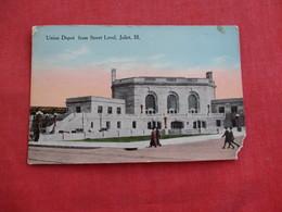 Union Depot Street Level  Corner Chip - Illinois > Joliet   Ref 2817 - Joliet