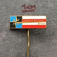 Badge (Pin) ZN006491 - Hotel International Brno Czechoslovakia - Trademarks