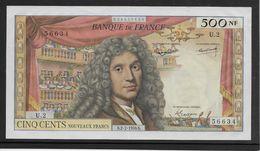 France 500 Francs Molière - 2-7-1959 - Fayette N°60-1 - SUP/SPL - 1959-1966 ''Nouveaux Francs''