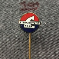 Badge (Pin) ZN006497 - Strojimport CSSR Czechoslovakia Machines - Trademarks