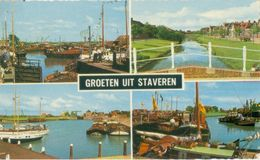 Staveren (Stavoren) 1964; Groeten Uit Staveren, Vierluik - Gelopen. (Strikwerda-Bakker) - Stavoren