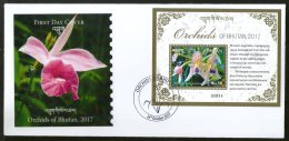Bhutan 2017 Orchids Flowers Flora Plant Tree M/s On FDC # F147 - Bhutan