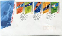 AUSTRALIE ENVELOPPE 1er JOUR DES N°1836/1840 JEUX PARALYMPIQUES DE SYDNEY OBLITERATION SYDNEY 3 JULY 2000 - Summer 2000: Sydney - Paralympic