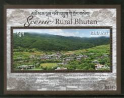 Bhutan 2017 Tourism Scenic Rural Nature Beauty Himalayan Archite M/s MNH # 5239 - Bhutan