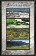Bhutan 2017 Tourism Scenic Rural Nature Beauty Himalayan Sheetlet MNH # 9041 - Bhutan