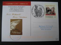 PM Withe Christmas Ensemble Josef Oberauer Mit Zusatzmarke Und Sonderstempel - Personalisierte Briefmarken