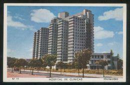 Uruguay. Montevideo. *Hospital De Clínicas* Circulada 1956. - Uruguay