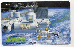 JAPON TELECARTE ESPACE STATION SPATIALE - Astronomie