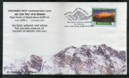 Nepal 2004 Mt. Everest Mt. Cho Peak Golden Jublee Of Ascent Special Cover # 7443 - Geology