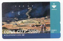 JAPON TELECARTE ESPACE STATION LUNA CITY 2050 - Astronomie